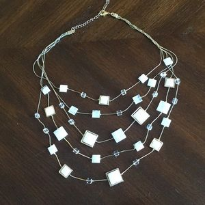Four-tiered, draping necklace